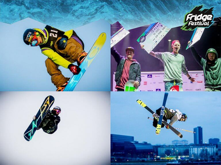 Collage snowboard and Ski Tricks and Winner