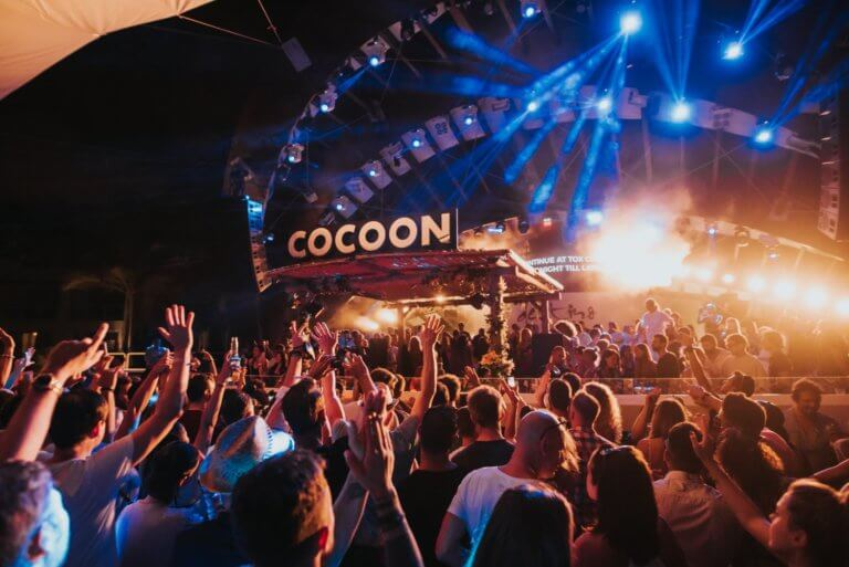 Cocoon Party Image with party people